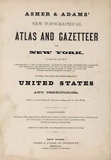 1870 New York State Atlas map old Genealogy Treasure Hunting Dvd S10
