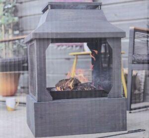 NEW La Hacienda Large Square Fireplace. Fire Pit Log Burner - FREE DELIVERY 🔥