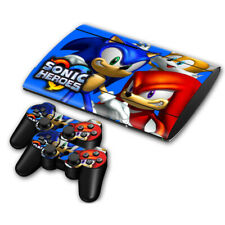 PS3 Slim 4000 Skin Sticker Decal Cover 2 Controllers SONIC HEROES