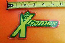 X-GAMES Green Skateboard Rollerblade Blades Skates 1997 INLINE Skating STICKER