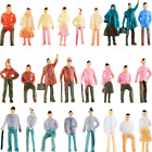 100 Pieces People Figurines 1:75 Scale Model Trains Architectural Plastic People