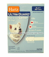 "HARTZ* Ultra Guard FLEA & TICK COLLAR 7 Months FOR DOGS Up To 20"" Neck WHITE"