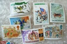 Stamp- A collection GB Stamps Domesday Book, Dominica - lot of 7 (Used & Unused)