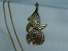 ...Harley-Davidson Gold Tone Eagle Pendant Necklace...