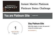 Instant Marriott 90days Platinum Status & Platinum Status Challenge