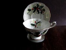 "Vintage Royal Albert Crown China England  Tea Cup and Saucer ""Yuletide"""