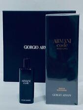 ARMANI CODE PROFUMO GIORGIO ARMANI MEN  PARFUM SPRAY 6.7 OZ + 0.5 OZ NEW IN BOX