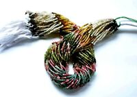 2.5 MM 13 Inch Natural Faceted Tourmaline Loose Gemstone Beads 1 Strand