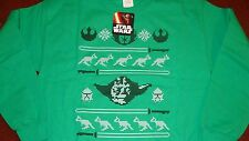 Oficial de Star Wars Jumper/Suéter/Top/Camiseta, Verde, Grande, Nuevo