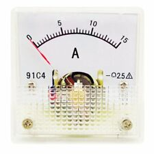 1PC Class 2.5 Analog Panel AMP Current Meter DC 0~15A Ammeter Model 91C4 45*45