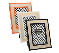MODERN PICTURE PHOTO FRAME 7X5'' POSTERS FRAMES WHITE BLACK ORANGE WOODEN