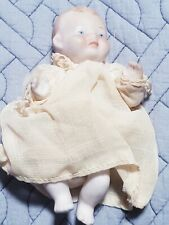 "Vintage Bisque Jointed Baby Doll Made in Japan 5"" Tall w/clothes"
