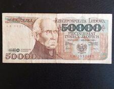 Billet de pologne de 50 000 Zlotych