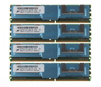 Micron 16GB 4X 4GB 2RX4 PC2-5300F DDR2 667MHZ ECC Fully Buffered FB-DIMM Memory