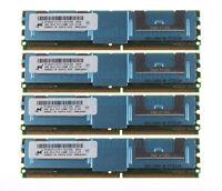 For Micron 16GB 4X 4GB PC2-5300F DDR2 667MHZ ECC Fully Buffered FB-DIMM Memory
