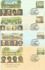 AUSTRALIA FDC 1989 PSE THE PASTORAL ERA-4 COVERS