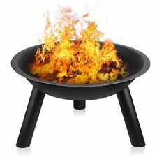Fire Pit Black Iron Folding Outdoor Garden Patio Heater Fire Bowl Large