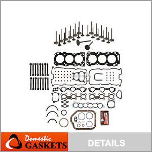 Full Gasket Set Intake Exhaust Valves Fit Nissan Infiniti 02-09 3.5 DOHC VQ35DE