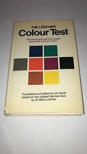 The Luscher Colour Test by Dr Max Luscher - 1st English Edition Eng Translation