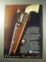 1985 Colt Teddy Roosevelt Limited Edition SAA Gun Ad