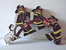 Hand Made Wood Cliff Hanging Firemen
