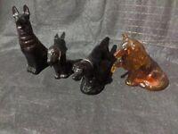 RARE VTG Avon Lot of Dog Breeds Brown Dark Colors Figure Statue Puppy