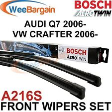 AUDI Q7 2006- VW Crafter 2006- New BOSCH A216S Aerotwin Front Wiper Blades Set