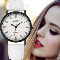 Fashion Women Watch Steel Watch PU Leather Analog Quartz Girls Dress Wrist Watch