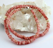 Collar de rodocrosita piedras preciosas Bloque Nuevo rosa