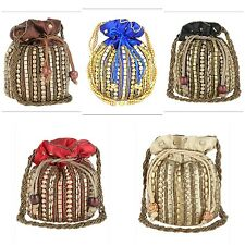 Assorted Deal 5pc Party Clutch Potli Bag Indian Traditional Ethnic Bridal Purse
