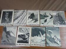 LA MONTAGNE Revue mensuelle du Club Alpin Francais : 9 numeros de 1933