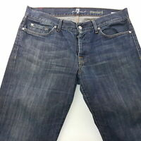 7 For All Mankind STANDARD Mens Jeans W34 L29 Blue Regular Fit Straight Mid Rise