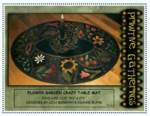 Flower Garden Crazy Table Mat - Pattern by Lisa Bongean and Joanne Blank