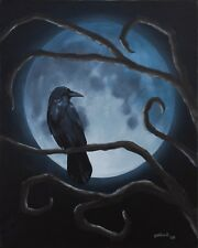 Raven Moon by pollard Crow Fantasy Gothic 12x16 signed dark art print