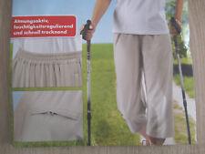 Damen Freizeit Hose mit breiten elastischen Gummibund beige 7/8 Länge  Gr.S