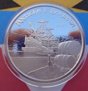 2018 Antigua & Barbuda RUM RUNNER $2 BU silver coin .999 fine silver