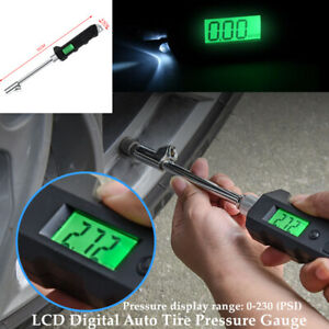 Truck Car Motorcycle LCD Precision Digital Auto Tire Tyre Air Pressure Gauge Set