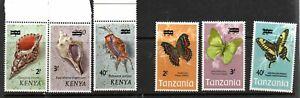 Kenya & tanzania 1975 Ovpts mint