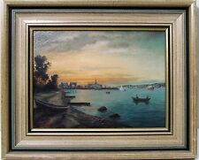 Netherland Coastal Waterfront Oil Painting Artist Sewell