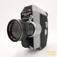 Zenit Quarz DS8-3 Zoom Double Super 8 Cine Camera & Accessories - Working S82976