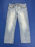 jeans uomo usato W36 tg 50 denim gamba dritta relaxed straight boyfriend T5123