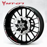 MT-07 motorcycle bike wheel decals rim stickers mt07 stripes yamaha MT 07 white