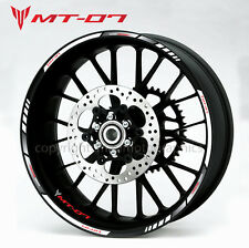 MT-07 motorcycle bike wheel decals rim stickers mt07 stripes yamaha MT 07 white