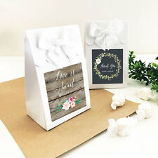 96 Personalized Rustic Floral Garden Wedding Favor Bags Candy Buffet Boxes Lot