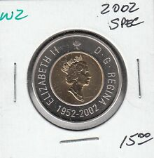 W2 CANADA $2.00 COIN TOONIE 2002 SPECIMEN FROM A ROYAL CANADIAN MINT SET $15.00