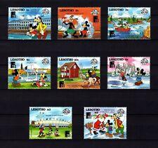 Lesotho - 1988 - Disney - Mickey - Goofy - Santa - Finlandia Expo + 8 X Mnh Set!