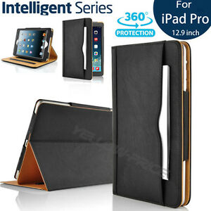 Heavy Duty Folio Leather Wallet Stand Smart Cover Case For Apple iPad Pro 12.9''