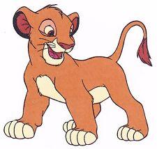 "5.5"" Disney lion king simba novelty fabric applique iron on character"