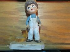 Vintage Gorham Moppets Figurine 1973 Fran Mar Japan Little Boy Handyman Tools GC