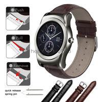 Crocodile Pattern Leather Watch Band Strap For LG watch Urbane W100 W110 W150